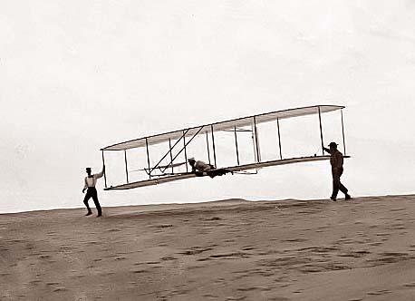 Wright-Brothers-Unpowered-Test-Flight